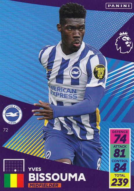 #72 Yves Bissouma (Brighton & Hove Albion) Adrenalyn XL Premier League 2021/22