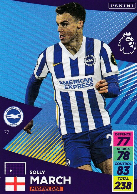 #77 Solly March (Brighton & Hove Albion) Adrenalyn XL Premier League 2021/22