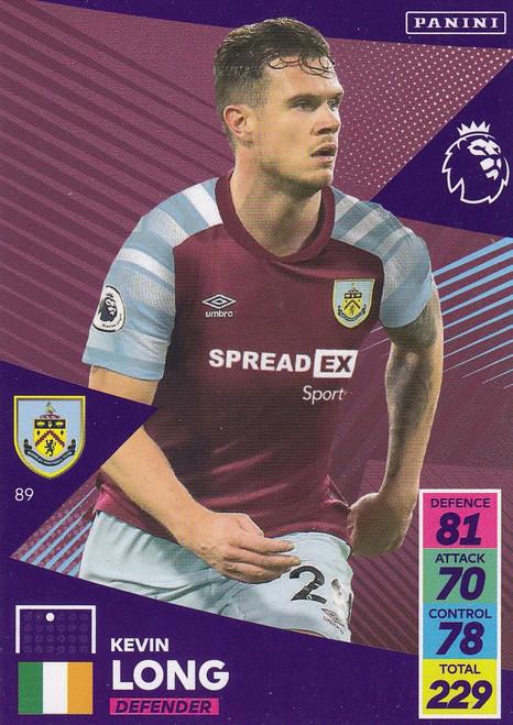 #89 Kevin Long (Burnley) Adrenalyn XL Premier League 2021/22