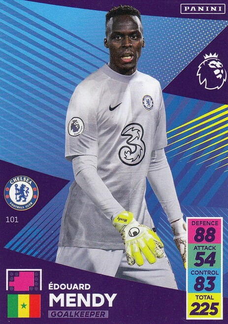 #101 Edouard Mendy (Chelsea) Adrenalyn XL Premier League 2021/22