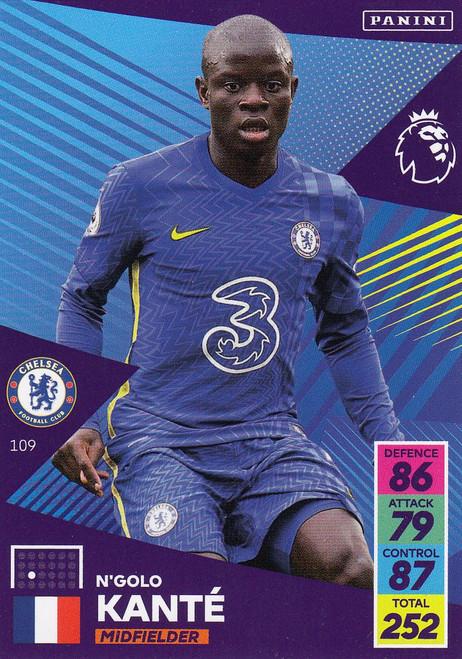 #109 N'Golo Kanté (Chelsea) Adrenalyn XL Premier League 2021/22