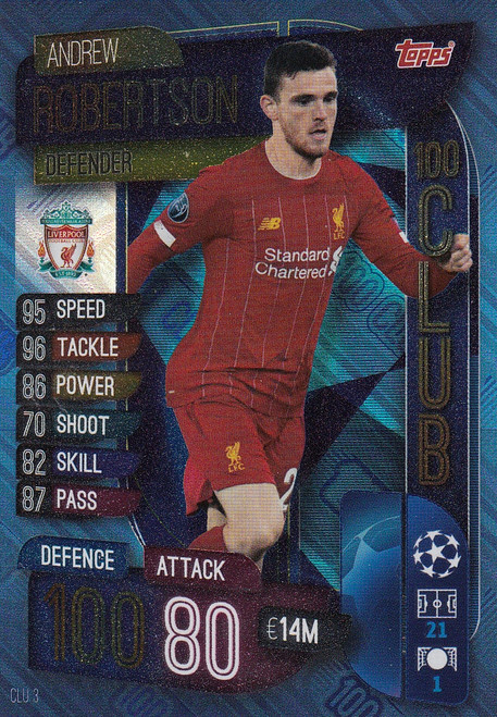 #CLU3 Andrew Robertson (Liverpool FC) Match Attax EXTRA 2019/20 100 CLUB
