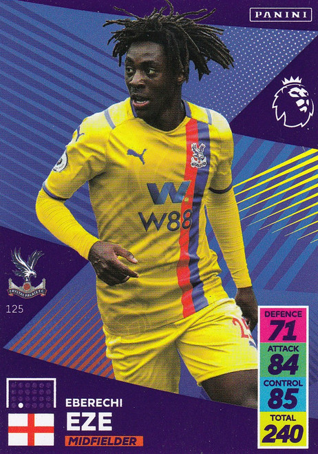 #125 Eberechi Eze (Crystal Palace) Adrenalyn XL Premier League 2021/22