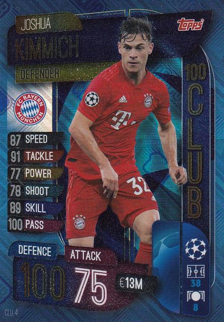 #CLU4 Joshua Kimmich (FC Bayern Munchen) Match Attax EXTRA 2019/20 100 CLUB