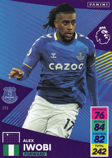 #151 Alex Iwobi (Everton) Adrenalyn XL Premier League 2021/22