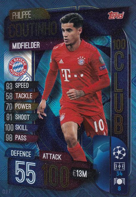 #CLU7 Philippe Coutinho (FC Bayern Munchen) Match Attax EXTRA 2019/20 100 CLUB