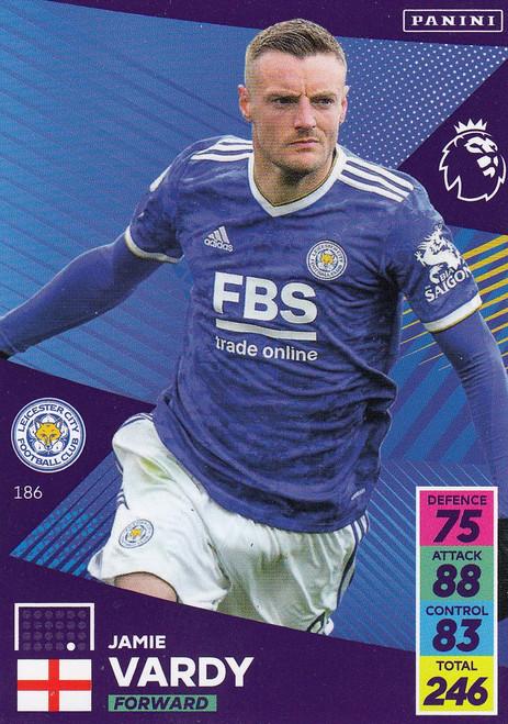 #186 Jamie Vardy (Leicester City) Adrenalyn XL Premier League 2021/22