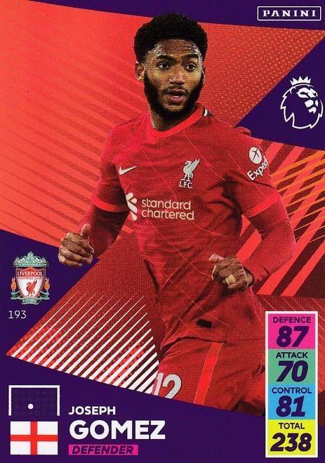 #193 Joseph Gomez (Liverpool) Adrenalyn XL Premier League 2021/22