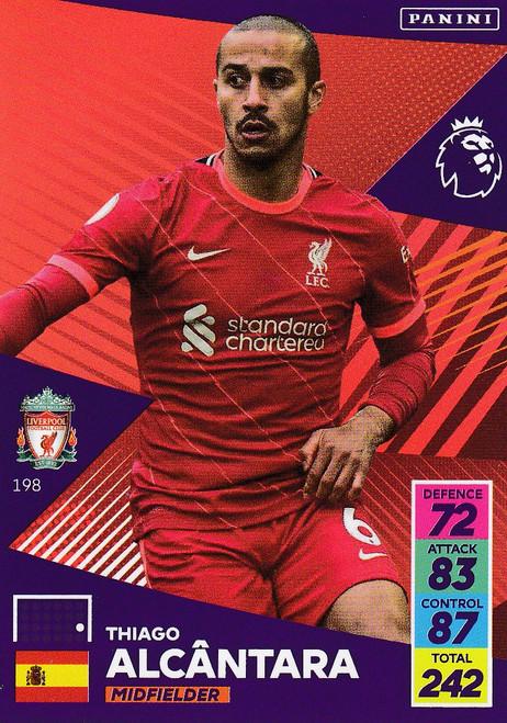 #198 Thiago (Liverpool) Adrenalyn XL Premier League 2021/22