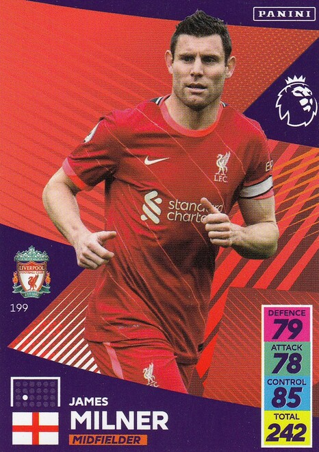 #199 James Milner (Liverpool) Adrenalyn XL Premier League 2021/22