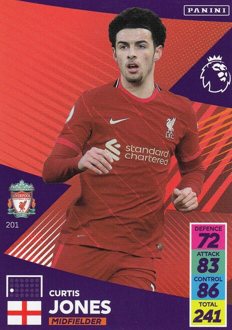 #201 Curtis Jones (Liverpool) Adrenalyn XL Premier League 2021/22