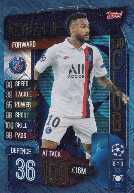 #CLU11 Neymar Jr (Paris Saint-Germain) Match Attax EXTRA 2019/20 100 CLUB