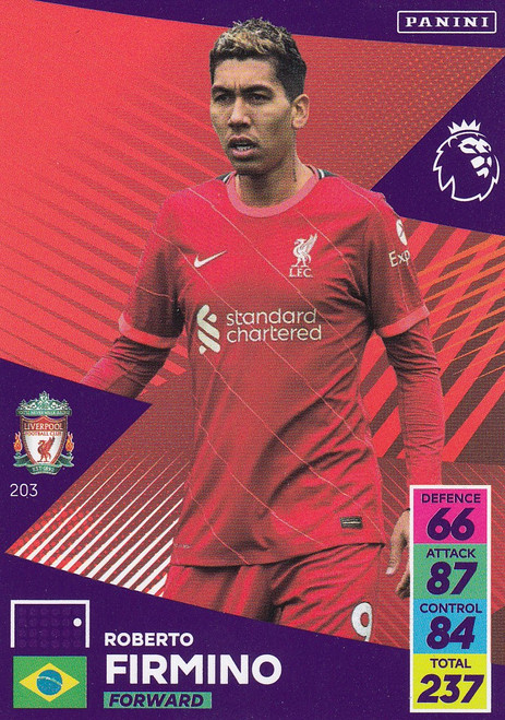 #203 Roberto Firmino (Liverpool) Adrenalyn XL Premier League 2021/22