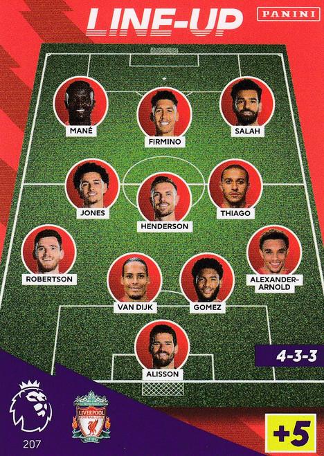 #207 Line-Up (Liverpool) Adrenalyn XL Premier League 2021/22