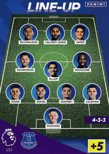 #153 Line-Up (Everton)  Adrenalyn XL Premier League 2021/22