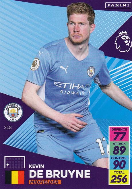 #218 Kevin De Bruyne (Manchester City) Adrenalyn XL Premier League 2021/22