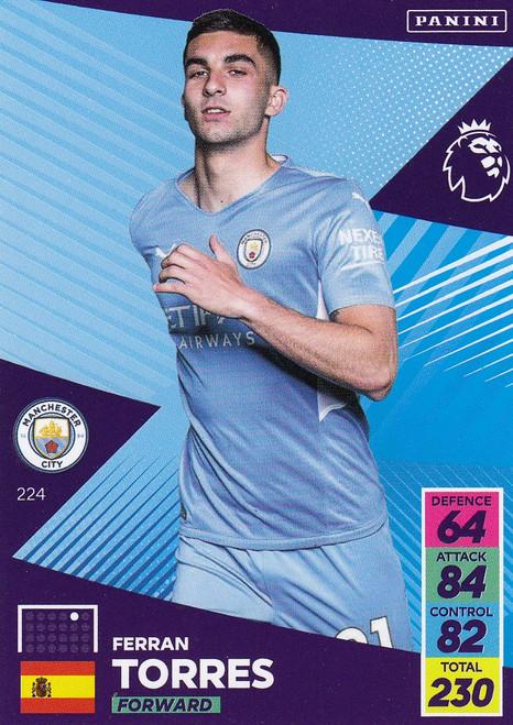 #224 Ferran Torres (Manchester City) Adrenalyn XL Premier League 2021/22