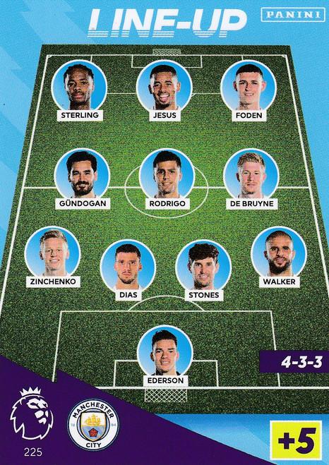 #225 Line-Up (Manchester City) Adrenalyn XL Premier League 2021/22
