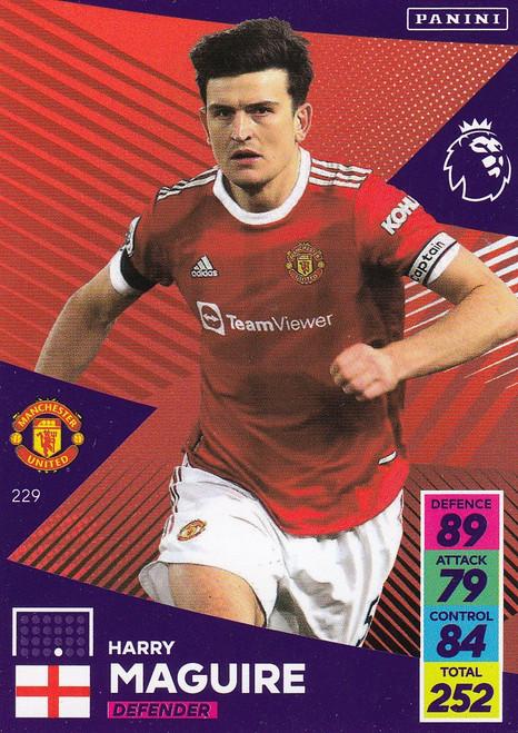 #229 Harry Maguire (Manchester United) Adrenalyn XL Premier League 2021/22