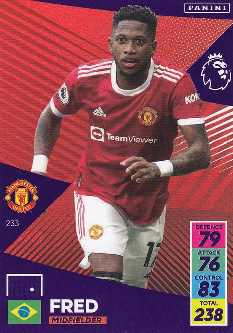 #233 Fred (Manchester United) Adrenalyn XL Premier League 2021/22