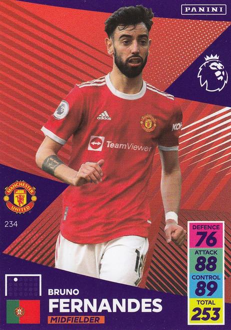 #234 Bruno Fernandes (Manchester United) Adrenalyn XL Premier League 2021/22