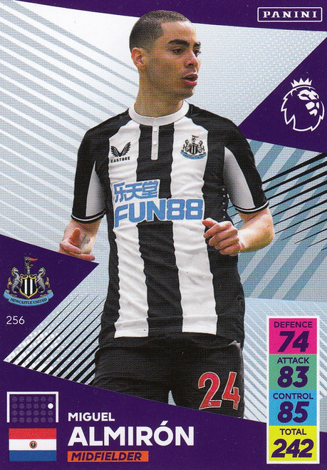 #256 Miguel Almirón (Newcastle United) Adrenalyn XL Premier League 2021/22