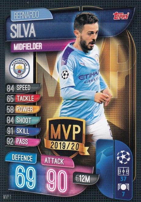 #MVP1 Bernardo Silva (Manchester City) Match Attax EXTRA 2019/20 MVP