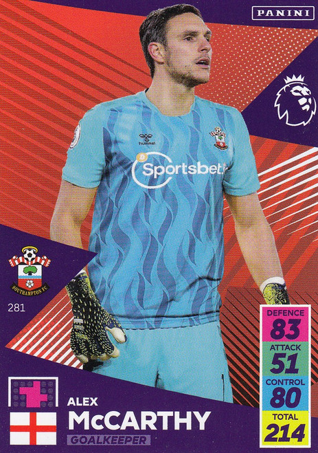#281 Alex McCarthy (Southampton) Adrenalyn XL Premier League 2021/22