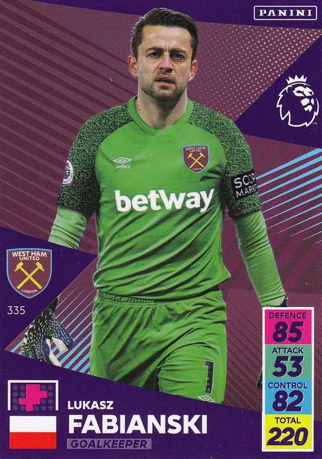 #335 Łukasz Fabiański (West Ham United) Adrenalyn XL Premier League 2021/22