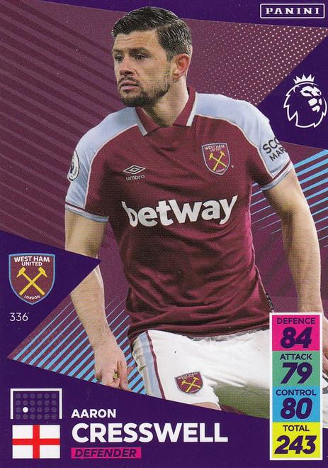 #336 Aaron Cresswell (West Ham United) Adrenalyn XL Premier League 2021/22