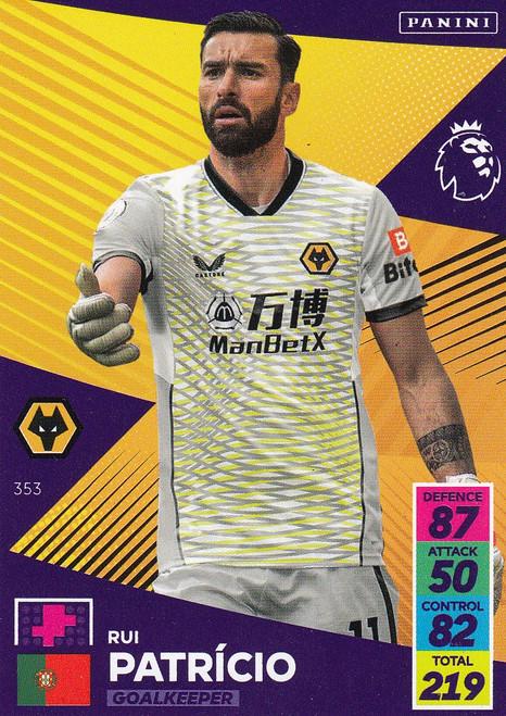 #353 Rui Patrício (Wolverhampton Wanderers) Adrenalyn XL Premier League 2021/22