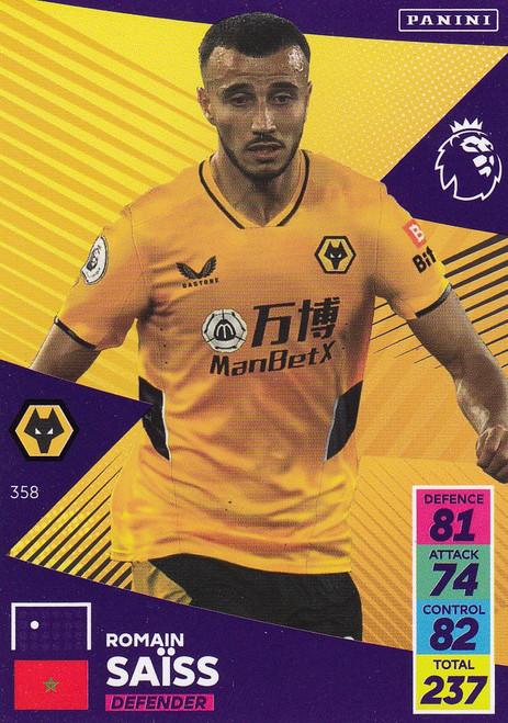 #358 Romain Saïss (Wolverhampton Wanderers) Adrenalyn XL Premier League 2021/22