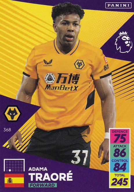 #368 Adama Traoré (Wolverhampton Wanderers) Adrenalyn XL Premier League 2021/22