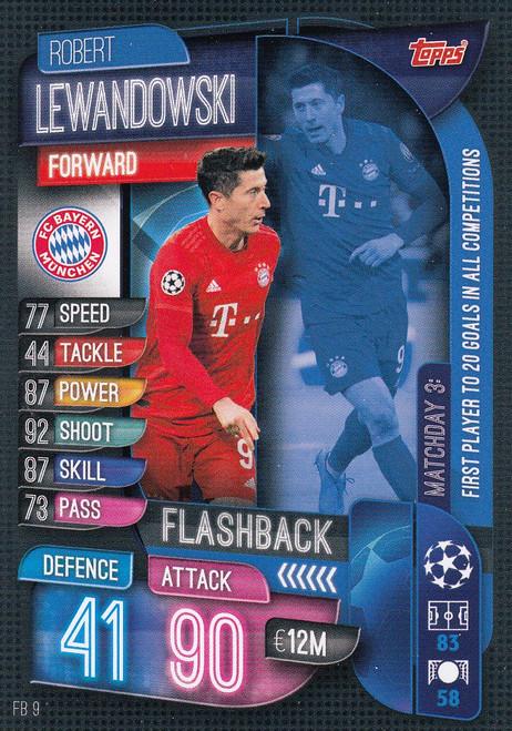 #FB9 Robert Lewandowski (FC Bayern Munchen) Match Attax EXTRA 2019/20 FLASHBACK