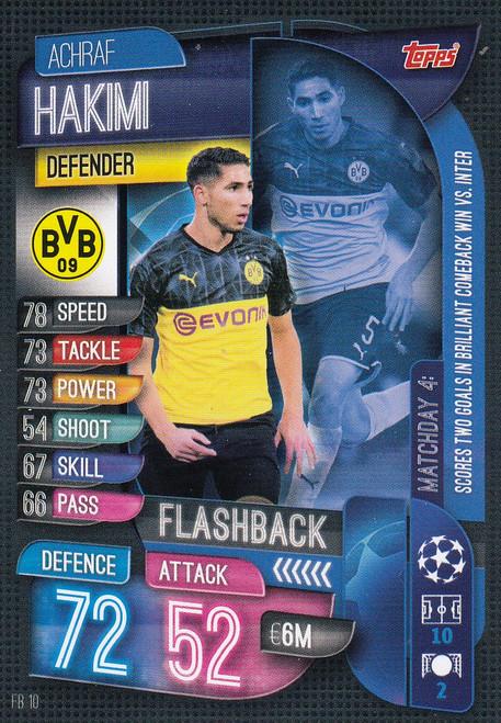 #FB10 Achraf Hakimi (Borussia Dortmund) Match Attax EXTRA 2019/20 FLASHBACK