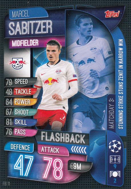 #FB11 Marcel Sabitzer (RB Leipzig) Match Attax EXTRA 2019/20 FLASHBACK