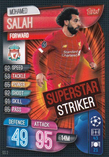 #SS2 Mohamed Salah (Liverpool FC) Match Attax EXTRA 2019/20 SUPER STRIKER