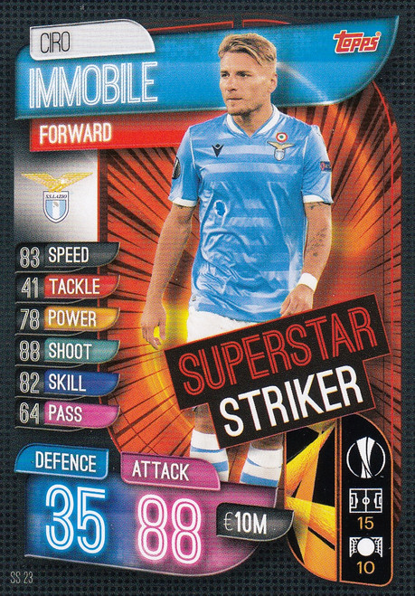 #SS23 Ciro Immobile (SS Lazio) Match Attax EXTRA 2019/20 SUPER STRIKER