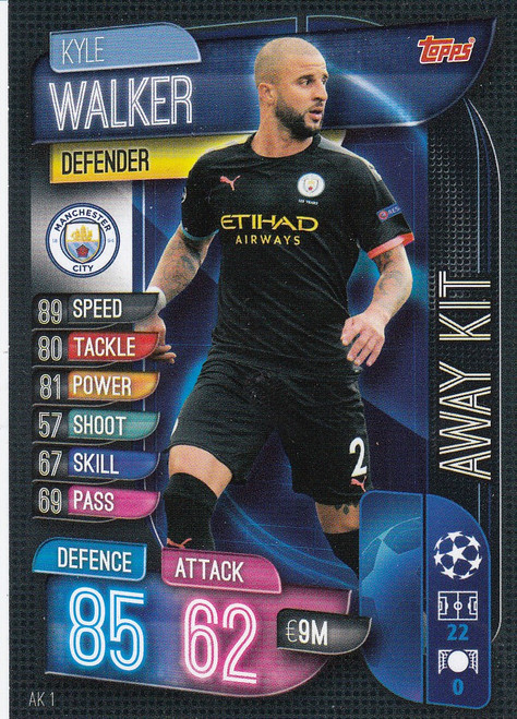 #AK1 Kyle Walker (Manchester City) Match Attax EXTRA 2019/20 AWAY KIT