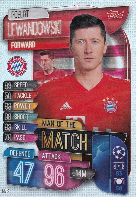 #MM9 Robert Lewandowski (FC Bayern Munchen) Match Attax EXTRA 2019/20 MAN OF THE MATCH