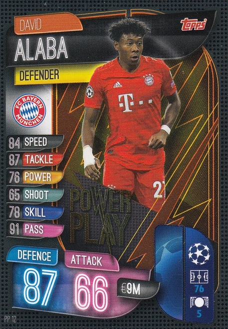 #PP12 David Alaba (FC Bayern Munchen) Match Attax EXTRA 2019/20 POWER PLAY