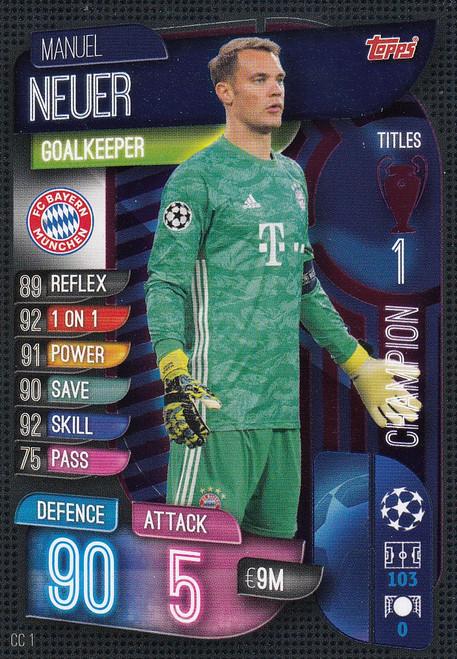 #CC1 Manuel Neuer (FC Bayern München) Match Attax EXTRA 2019/20 CHAMPION