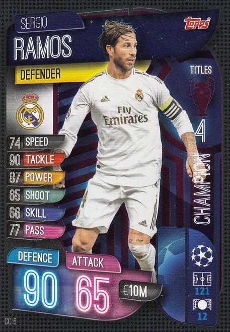 #CC6 Sergio Ramos (Real Madrid CF) Match Attax EXTRA 2019/20 CHAMPION