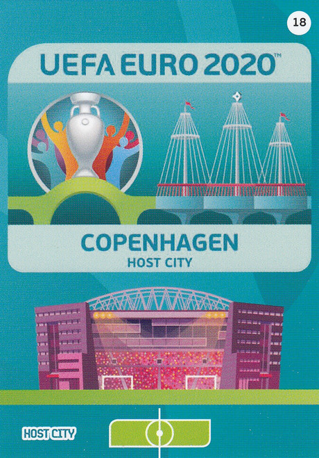#18 Copenhagen (Denmark) Adrenalyn XL Euro 2020 HOST CITY