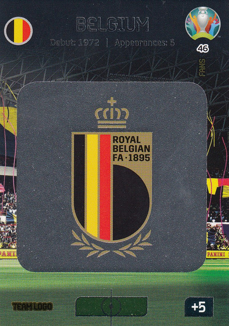 #46 Belgium Logo  Adrenalyn XL Euro 2020