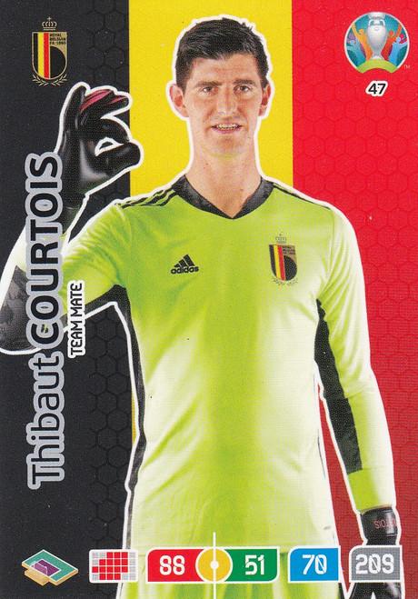 #47 Thibaut Courtois (Belgium)  Adrenalyn XL Euro 2020