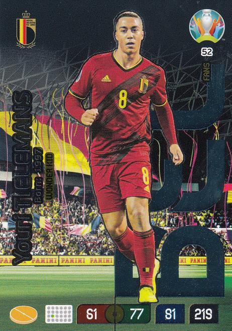#52 Youri Tielemens (Belgium)  Adrenalyn XL Euro 2020 WONDER KID