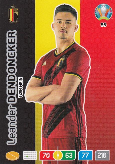 #56 Leander Dendoncker (Belgium)  Adrenalyn XL Euro 2020