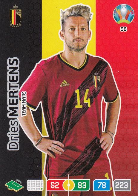#58 Dries Mertens (Belgium)  Adrenalyn XL Euro 2020