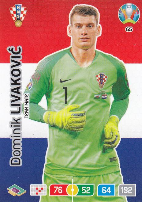 #65 Dominik Livakovic (Croatia) Adrenalyn XL Euro 2020